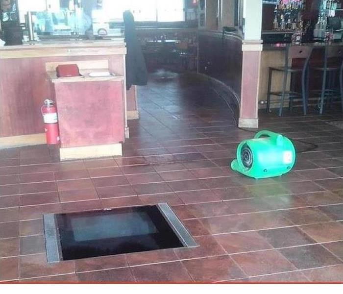 Flood Water Enters Restaurant After